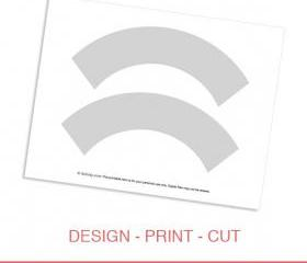 Cupcake Wrapper Template Printable - DIY Make Your Own Party Cupcake Wrapper Design Template by daintzy